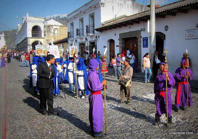 Different costumes according to role - Antigua Guatemala