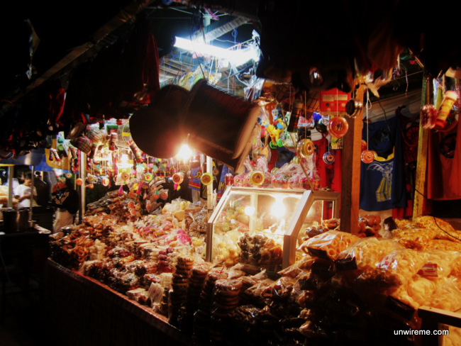 Candy stalls next to La Merced