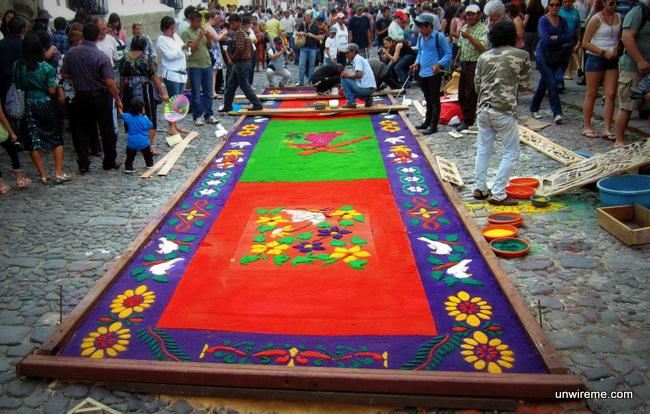 Elaborate Alfombra - Antigua Guatemala