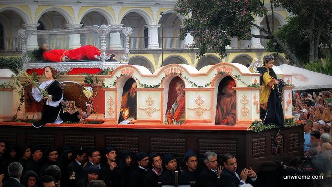 Jesus' symbolic burial - Antigua Guatemala