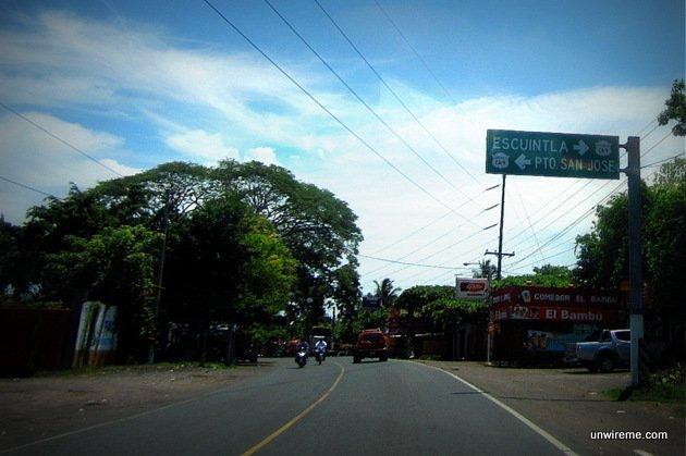 Follow turnoff to Puerto San José Guatemala