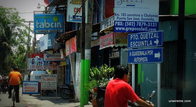 Drive past Puerto San José, away from Puerto Quetzal