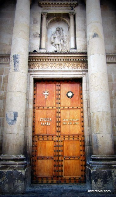 """Holy Door"" - Not the size, I mean what the inscription on the door says."