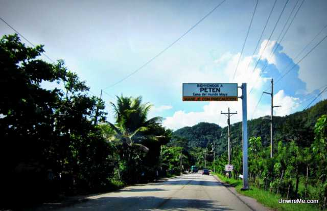 Road to Peten Guatemala