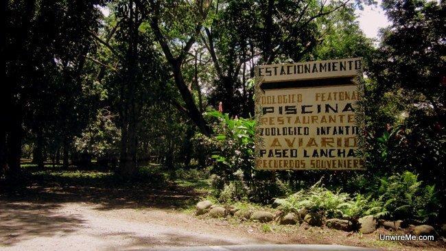 Signs at AutoSafari Chapin Guatemala