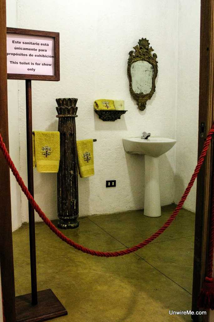 Bathroom fixtures used by the Pope at Santo Domingo del Cerro