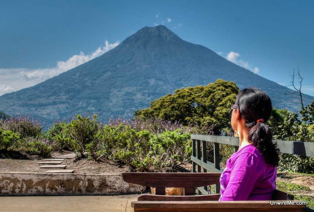 Agua Volcano from Santo Domingo del Cerro