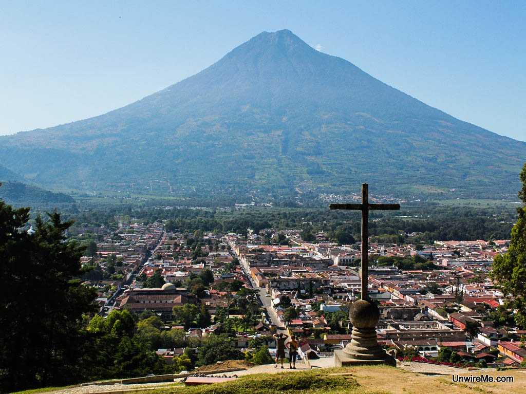 View from Cerro de la Cruz Antigua Guatemala