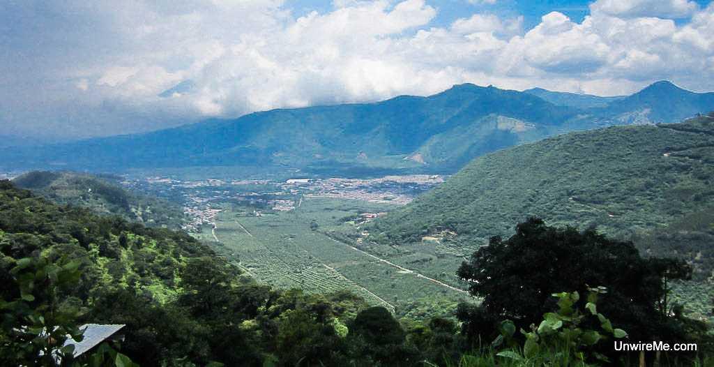 View of Finca Filadelfia from Earth Lodge Antigua Guatemala