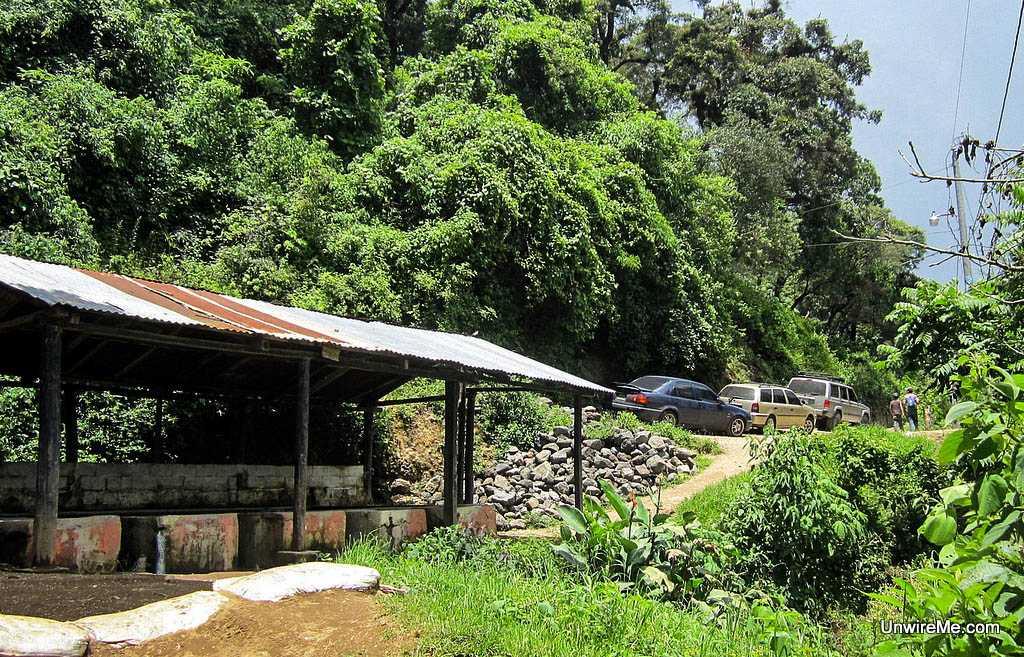 Parking at Earth Lodge Antigua Guatemala