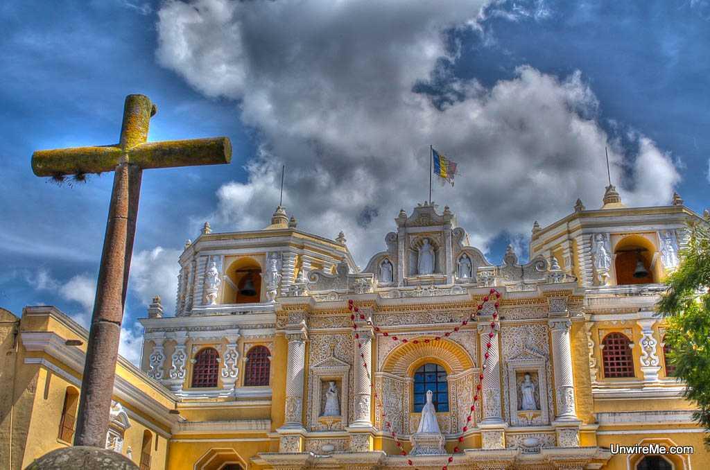 La merced church - Antigua Guatemala expat