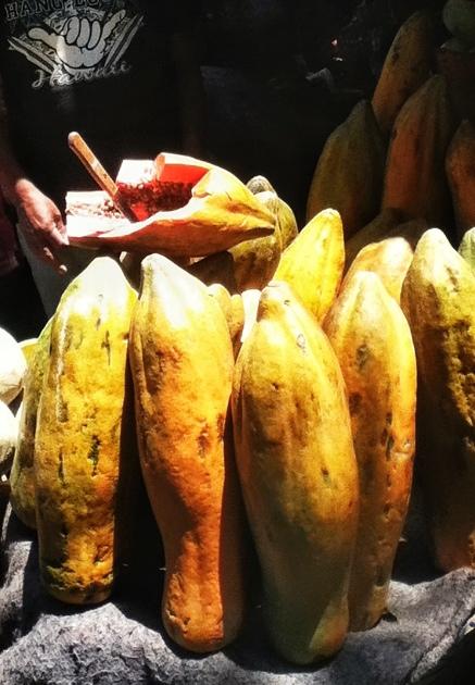 papayas at the mercado in antigua guatemala
