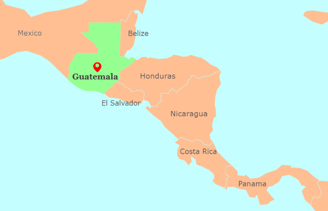 Central America Map - OkAntigua.com