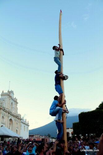 Antigua Guatemala Greasy Pole