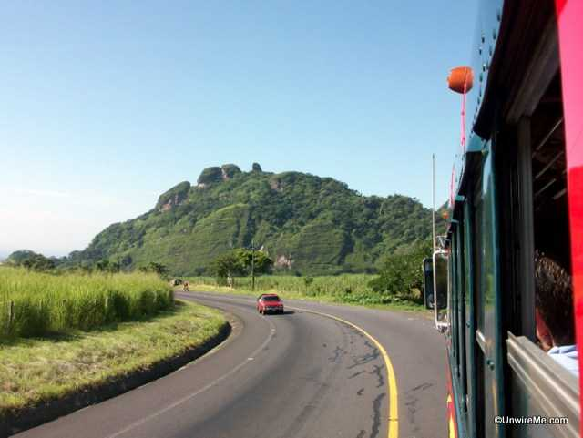 road from Antigua to Escuintla
