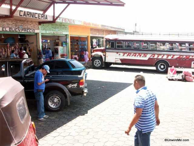 bus stop in guatemala