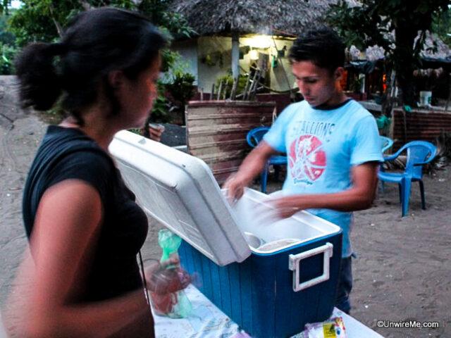 Street food at El Paredon
