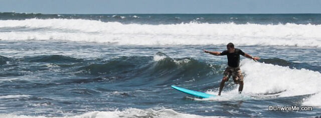 Learning to surf in Guatemala