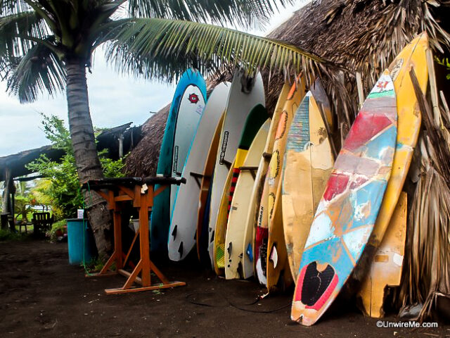 Surfboards for rent in Guatemala