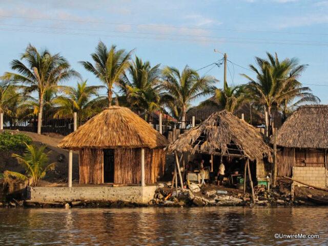 Rustic beach shacks