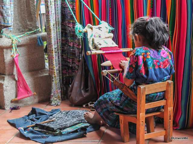 Maya Girl Learning the Trade