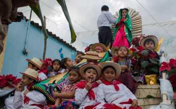 Procesion Virgen de Guadalupe Antigua