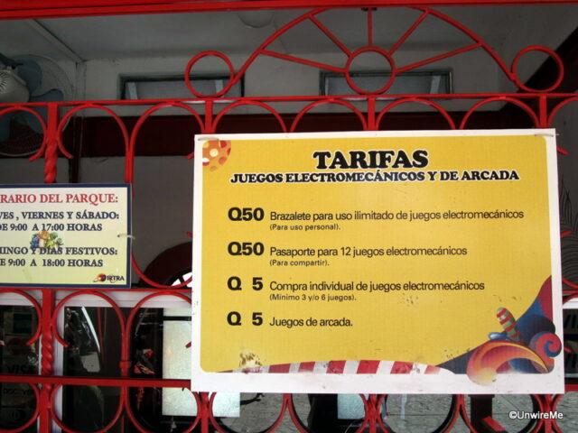IRTRA Petapa Guatemala Precio Juegos