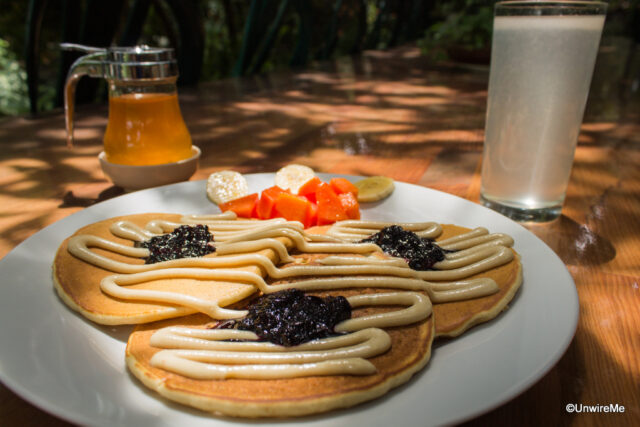 Macadamia Pancakes ,Valhalla Macadamia Farm, Antigua guatemala