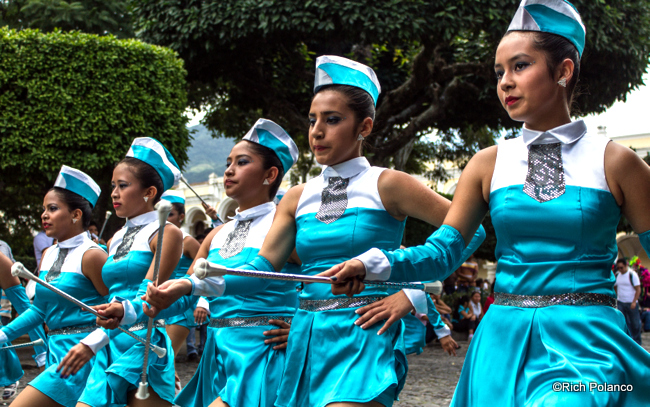 majorettes are popular in Guatemala