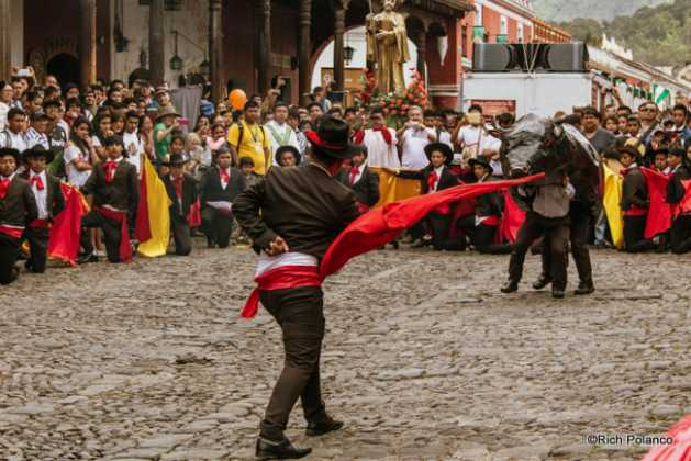 Bullfighting in the streets of Antigua Guatemala