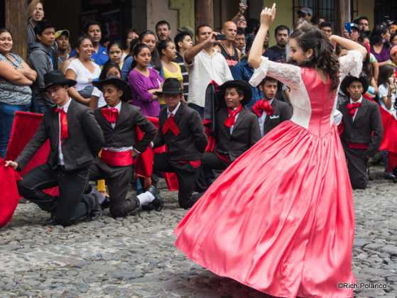 Flamenco dancer teases the bull