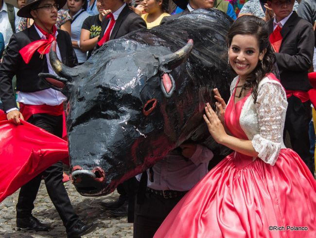 Bull and the Spanish dancer