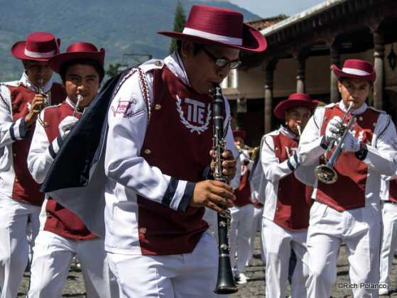 marching band in Antigua guatemala