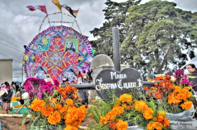 graves are cleaned up in all saints day in guatemala