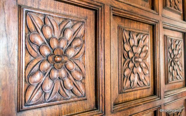 Artwork on door - roses