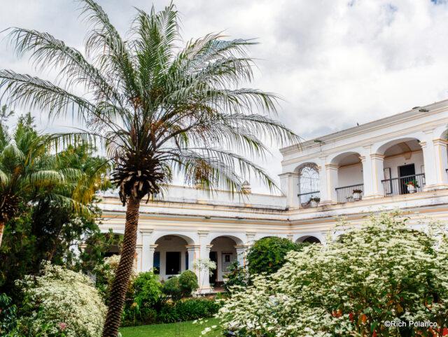 Courtyard garden at Palacio del Obispo