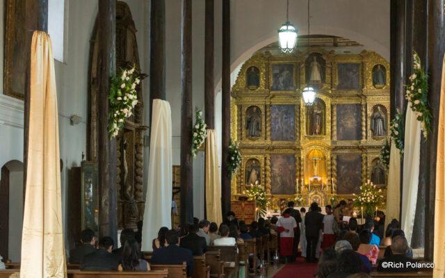 Interior of San Juan del Obispo Church