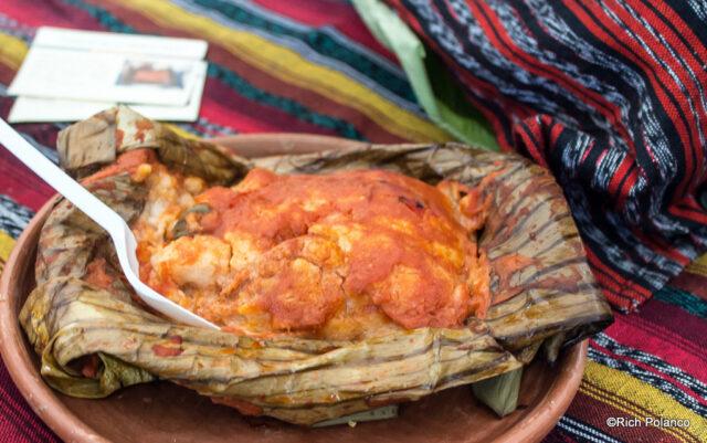 tamales in San Juan del Obispo