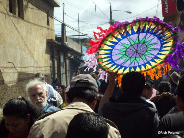 taking kites to cemetery in Santiago Sacatepequez guatemala
