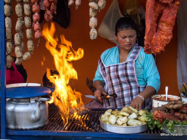grilling meats in Santiago Sacatepequez guatemala
