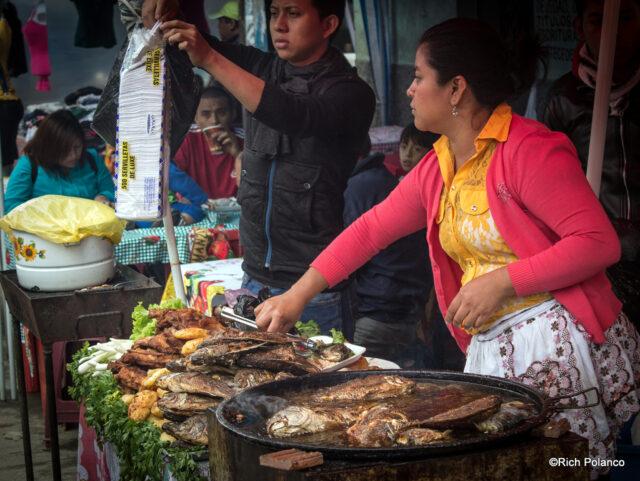 street food of Santiago Sacatepequez