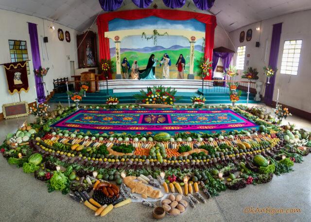 Sawdust carpet Holy Week Antigua Guatemala