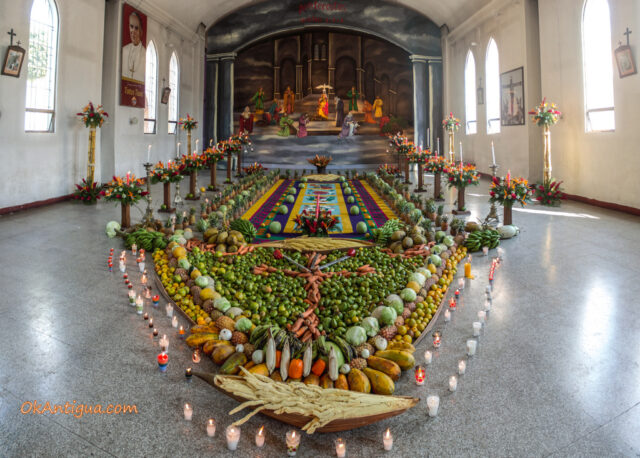 Alfombra display inside San Felipe