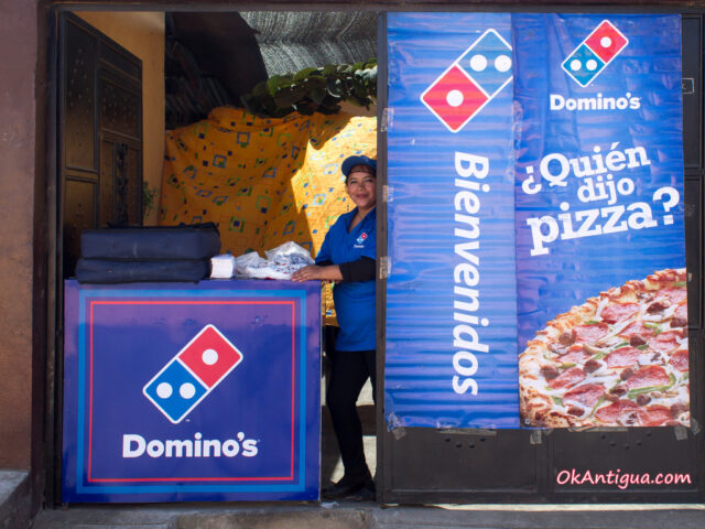 Dominos Pizza for Lent Guatemala