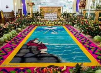 Alfombra Catedral San Jose Antigua Guatemala