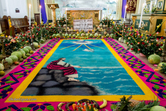 Alfombra at San Jose Cathedral in Antigua Guatemala