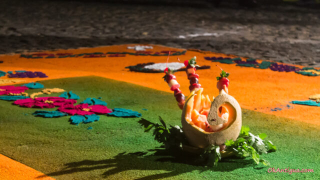 Alfombra fruit art