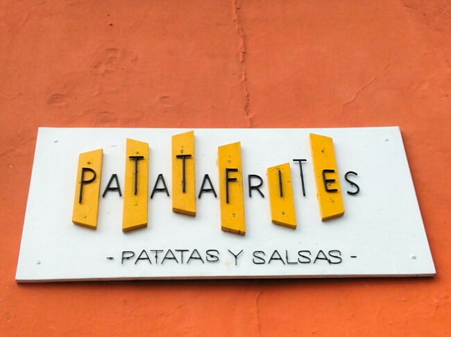 French Fries and Flavored Mayonaisse at Patata Frites