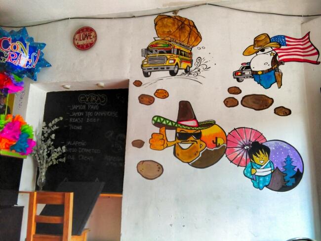 Inside Patata Frites Antigua Guatemala