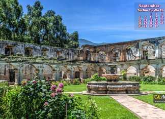 Santa Clara ruins Antigua Guatemala Wallpaper